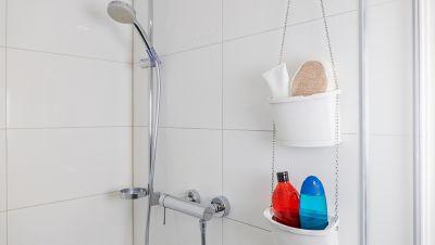 Fertige, selbstgemachte Duschkörbe