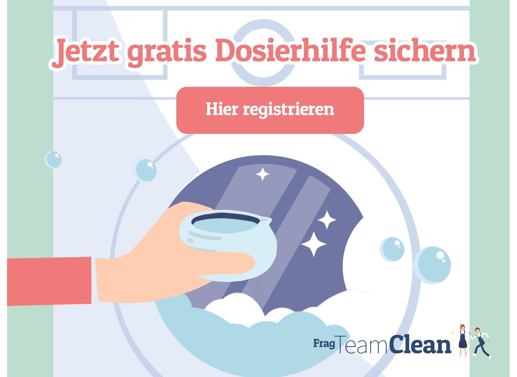 Waschmaschine mit Dosierhilfe für Waschmittel