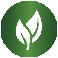 """Symbole pour """"naturel et bon pour l'environnement""""."""