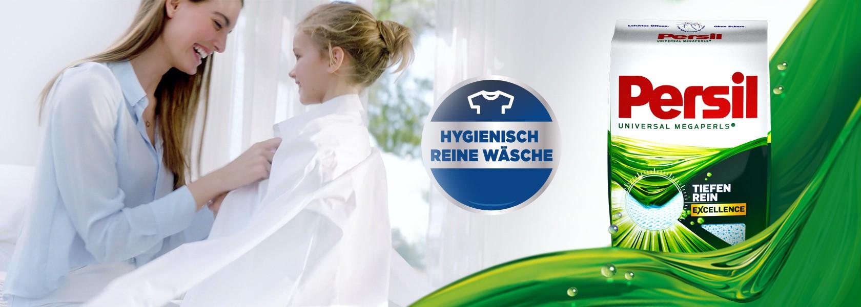 """Ein """"hygienisch reine Wäsche"""" Siegel."""
