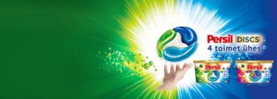 Persil Discs 4in1 Power: Color, Universal ja veel üks.