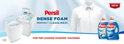 persil high foam gel for top-loading washing machines provides dense foam and perfect cleanliness