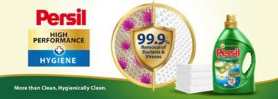 persil hygiene gel removes 99.9% of bacteria and viruses