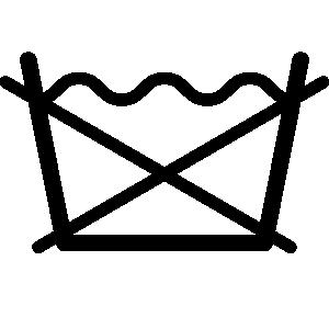Skalbinių priežiūros simbolis