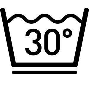 Wassen tot een temeratuur van 30°C in een wascyclus voor fijne was, bijv. Programma voor fijne was of lichte behandeling.
