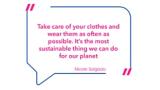 Nicole Salgados Worte der Weisheit – ein Zitat, das ihre Haltung zu nachhaltigen Modeentscheidungen verdeutlicht