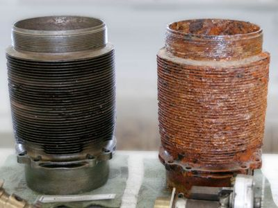 Pipe fitting components pre and post pre-treatment