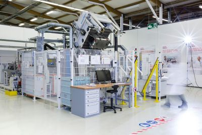 Henkel's Resin Transfer Molding (RTM) press in Heidelberg Composite Lab
