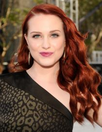 Actress Evan Rachel Wood with Red hair