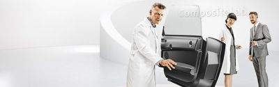 Examing  car door in Henkel composite lab