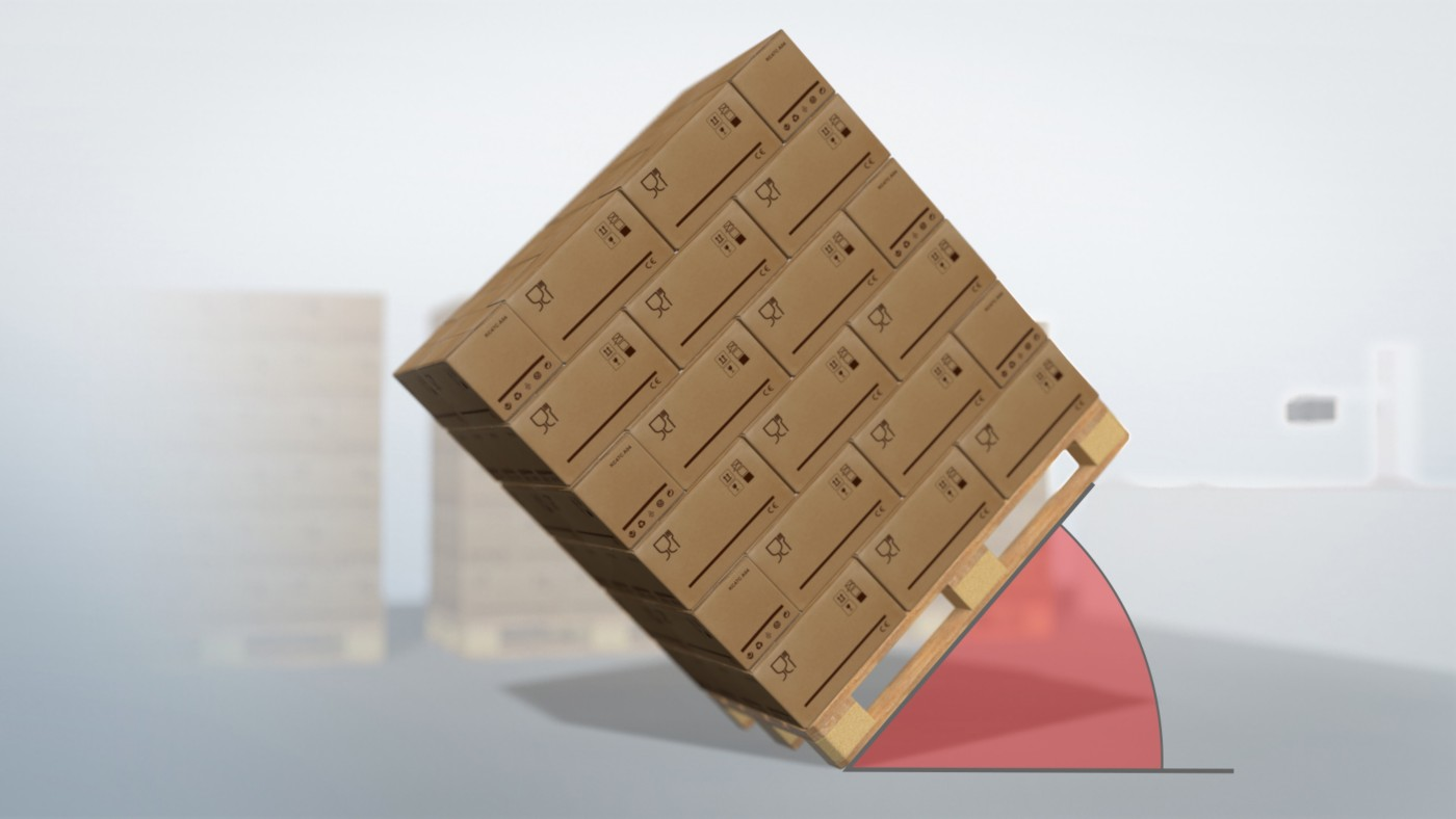 Secure palletizing with hot melt adhesives