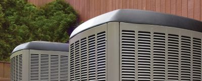 An outdoor air conditioning HVAC unit