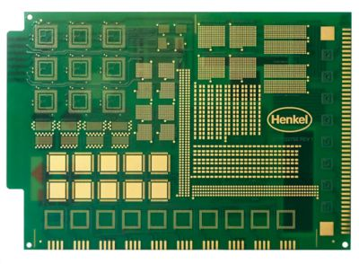 Photo of advanced pcb test board designed to evaluate and qualify  different solder paste formulations to determine the best solder material for current and future processes and applications including component miniaturization and  finer particle size solders