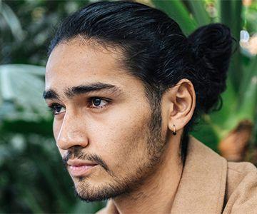 Mann langes gesicht Frisuren für