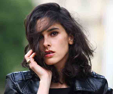 Dark-haired woman with healthy hair