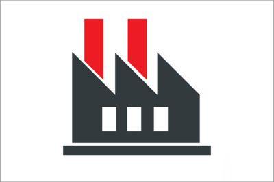 有烟囱的工厂图解