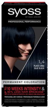 Trajna barva za lase Syoss Modro črna 1-4