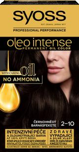 Syoss Oleo Intense tartós hajfesték BARNÁSFEKETE 2-10