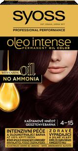 Syoss Oleo Intense tartós hajfesték mogyoróbarna 4-15