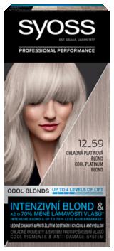 Syoss tartós hajfesték Cool Blondes HŰVÖS PLATINASZŐKE 12_59