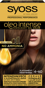 Syoss Oleo Intense tartós hajfesték ARANYBARNA 4-60