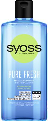 Syoss Pure Fresh Frissítő Sampon