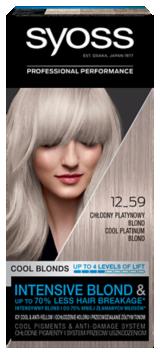 Syoss Trwała Koloryzacja Chłodne Blondy Platynowy 12-59