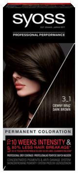 Syoss Vopsea de păr permanentă Syoss 3-1 Șaten Închis