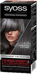Стійка фарба для волосся Syoss Димчастий Хром 4-15