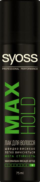 Лак для волосся Syoss Max Hold