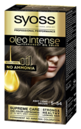Syoss Oleo Intense Permanent Oil Color Ashy Light Brown 5-54