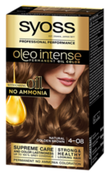Syoss Oleo Intense Permanent Oil Color Natural Golden Brown 4-08