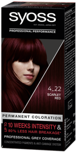 Syoss Permanent Coloration Scarlett Red 4_22