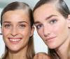 three models with sleek gel hairstyles