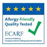 Logotip certifikata ECARF Europski centar za istraživanje alergija dodijeljen Persil Sensitive i Silan Sensitiv proizvodima