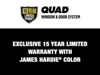 OSI QUAD Max Limited Warranty with James Hardie® ColorPlus® STATEMENT COLLECTION™ Siding