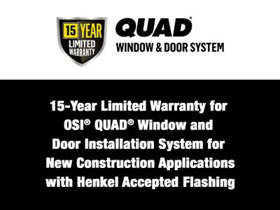 New Construction Application with Henkel Accepted Flashing Tape