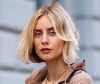 Woman with trendy blunt bob