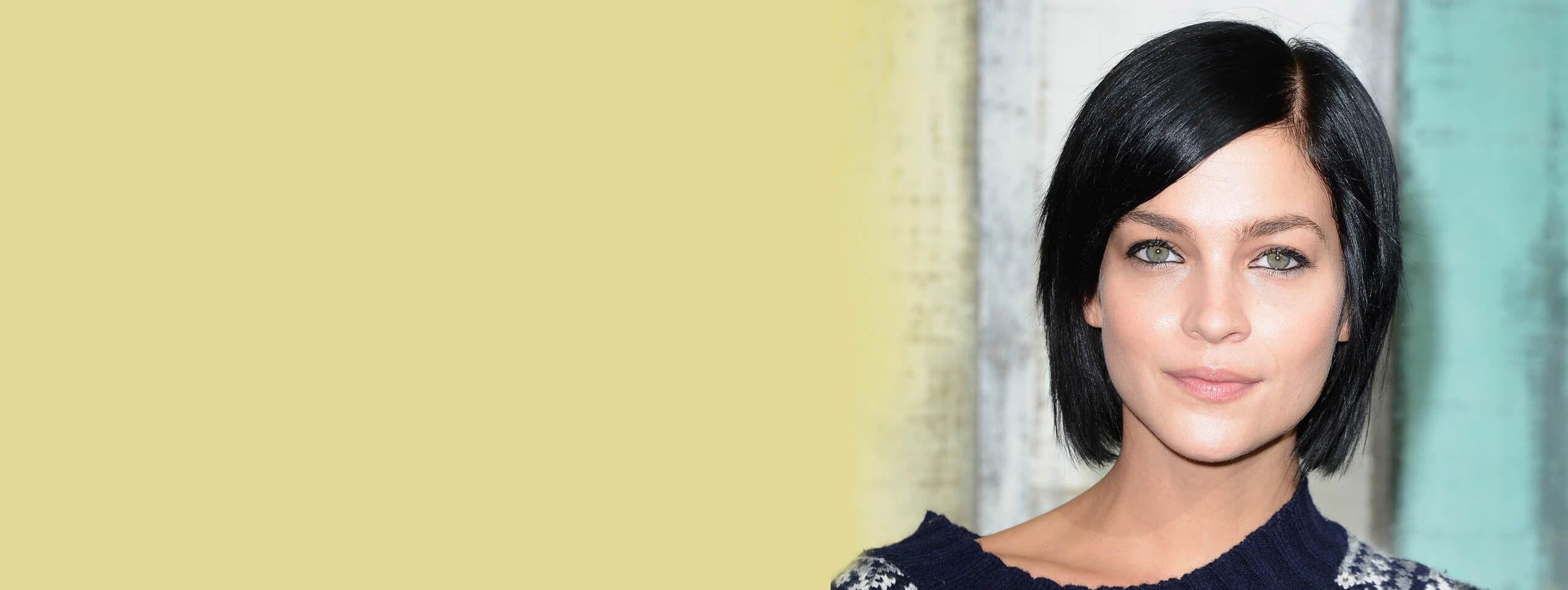 Woman rocks short black hairstyle