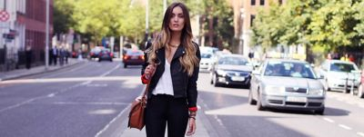 woman-standing-in-the-street-with-ombre-hairstyle