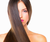 Brunette woman with long shiny hair