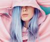 Temporary blue hair dye for you